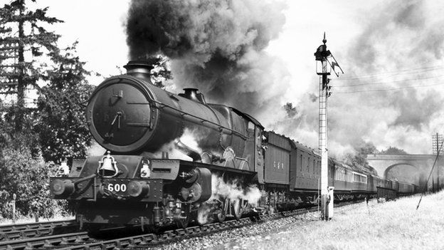 _84030633_kinggeorgev'steamlocomotiveno6000a'king'classenginetravellingonthedowncornishriviera1945nationalrailwaymuseum-2