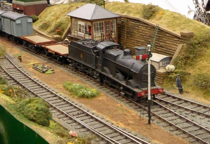 Exhibition Stand Keighley : Keighley worth valley railway model event